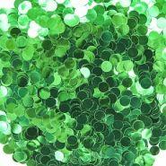Конфетти фольга Круг, Зеленый, Металлик, 1 см, 50 гр.