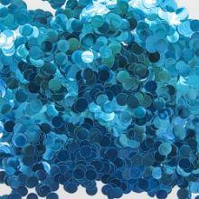 Конфетти фольга Круг, Голубой, Металлик, 1 см, 50 гр.