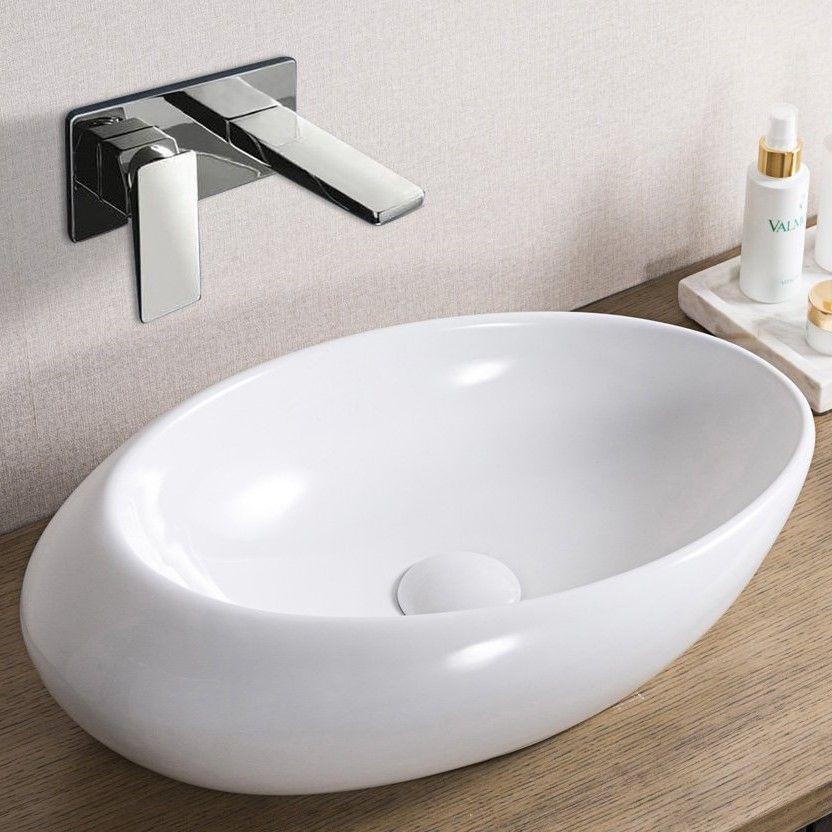 Настольная раковина для ванной BelBagno BB1396 57х36 см ФОТО