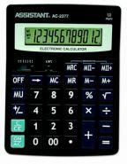 Калькулятор 12-разр., двойное питание, двойная память, черный пластик, разм. 195х149х47,5 мм AC-2377