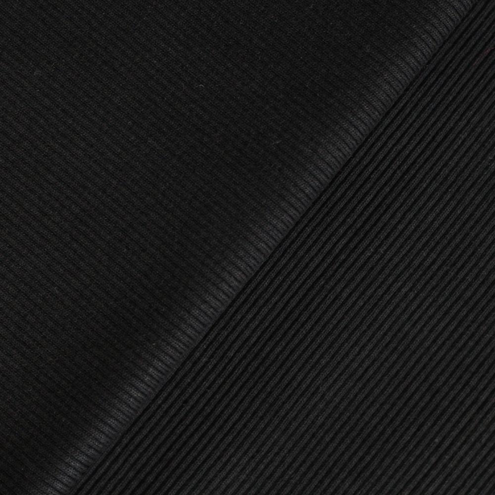Лоскут трикотажной ткани кашкорсе - Чёрный