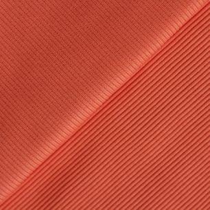 Лоскут трикотажной ткани кашкорсе - Морковно-персиковый