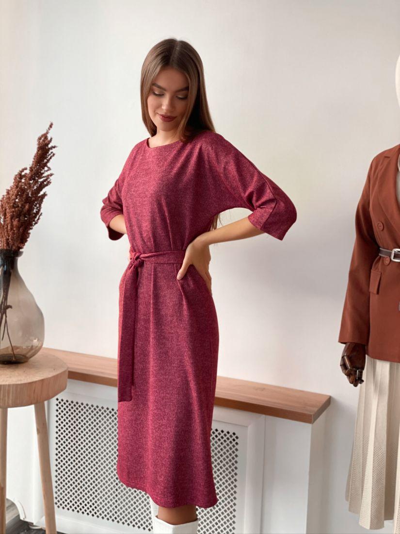 s3162 Платье трикотажное ягодное