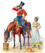 Фигуры Красный улан Наполеона, серия Наполеоновских войн