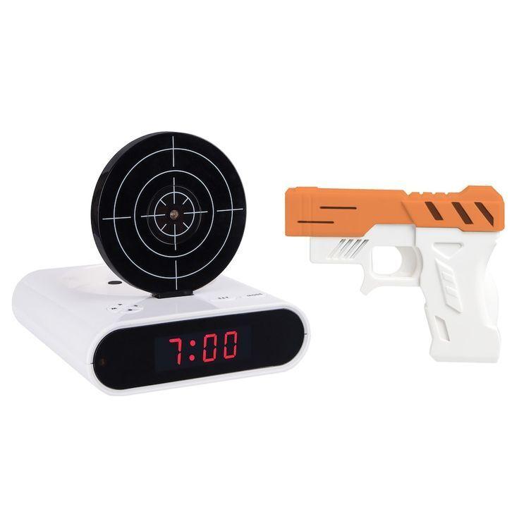 """Будильник-пистолет с мишенью """"Lazer target Alarm Clock"""""""