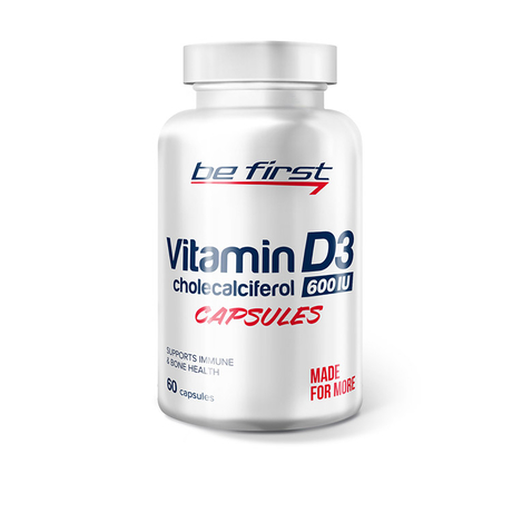 Be first Vitamin D3 60 гелевых капсул