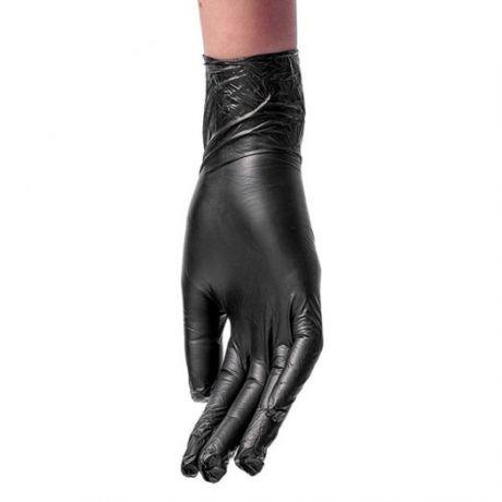 Перчатки виниловые Vinyl Gloves, черные, 50 пар