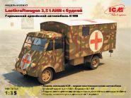 Lastkraftwagen 3.5 AHN с будкой, Германская военная машина скорой помощи 2 МВ