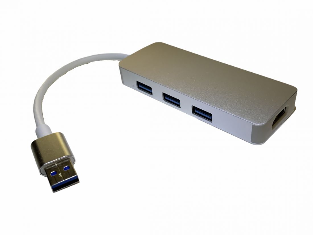Хаб 4в1 USB3.0 to HDMI+3*USB3.0