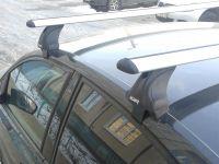 Багажник на крышу Toyota Corolla с 2013 г., Атлант, крыловидные аэродуги, опора Е