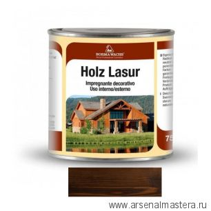 Декоративная ВОСКОВАЯ лазурь Holzwachs Lasur 750 мл 3320 Borma цвет 146 венге R3320-15