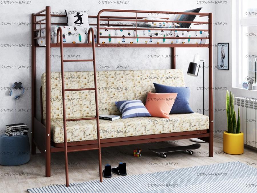 Кровать двухъярусная с диваном Мадлен 2