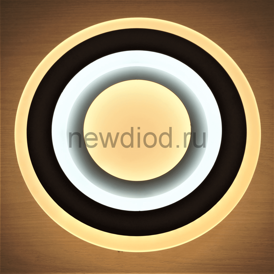 Светильник светодиодный настенно-потолочный GEOMETRIA 529 38Вт 6/3/4000K 300мм белый Oreol
