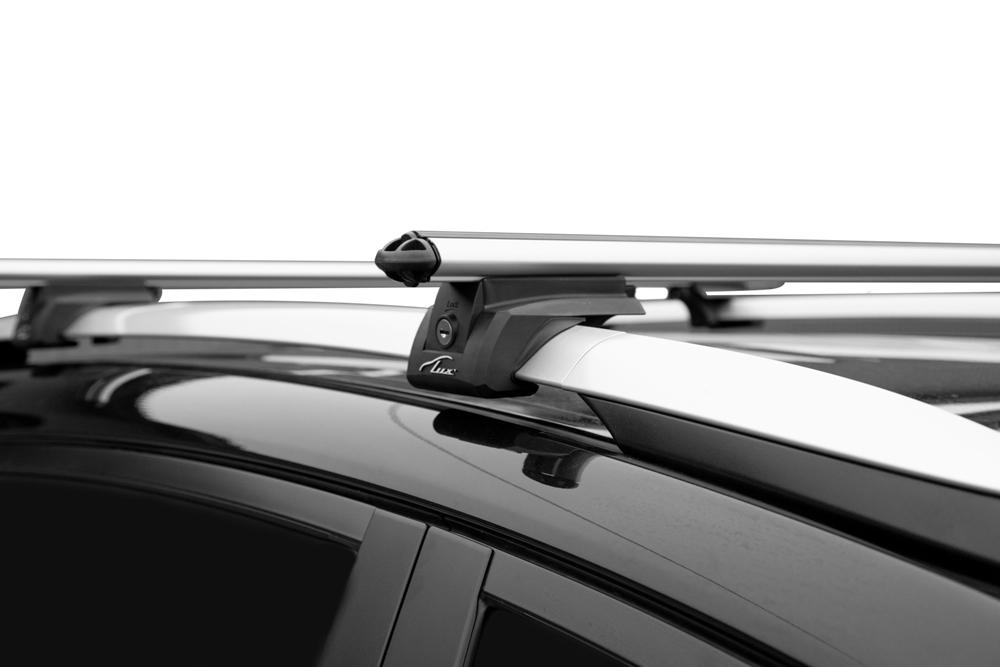 Багажник на рейлинги Toyota RAV4 2013-19, Lux Элегант, аэродинамические дуги 53 мм