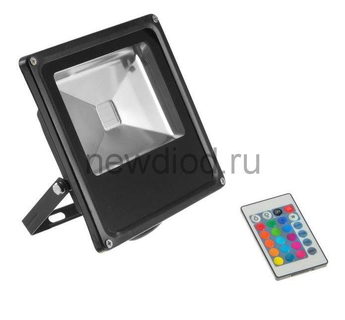Прожектор светодиодный 50W, COB LED, с пультом, IP66, 220 В, RGB