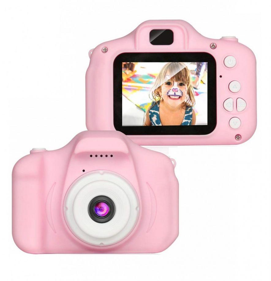 Детский цифровой мини фотоаппарат, Цвет Розовый