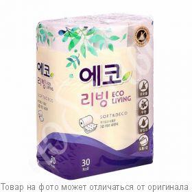 Туалетная бумага Корея 1/30шт (LIVING) 25м 3-х сл., шт