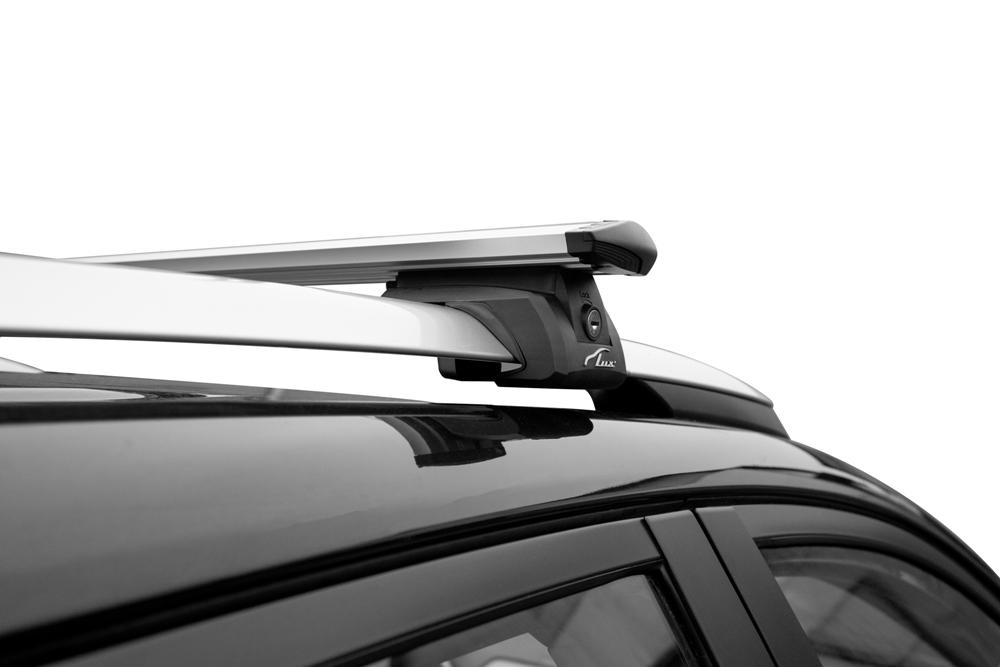 Багажник на рейлинги Toyota RAV4 2013-19, Lux Элегант, крыловидные дуги 82 мм