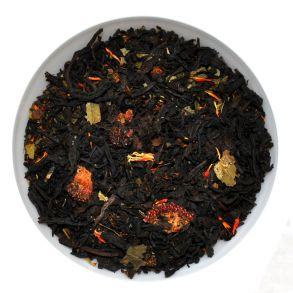 """Черный чай """"Клубника со сливками"""""""