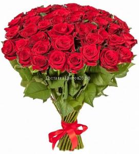 Букет из красных роз (Россия 60-70 см)