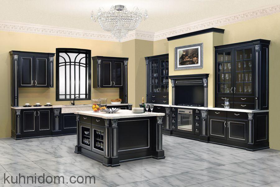 Кухня Olimp (Олимп) черная