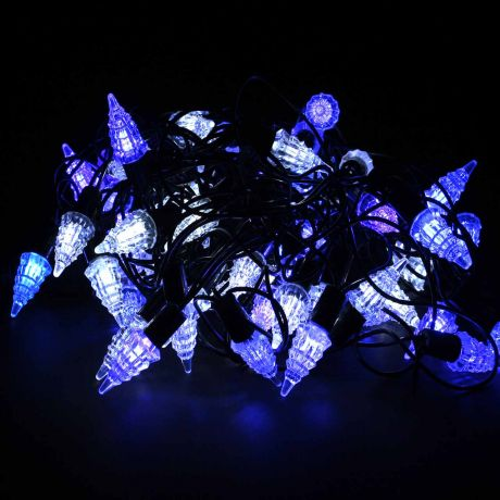 """Гирлянда """"Ёлочки"""" (сине-белые, 72 светодиода, 8 м)"""