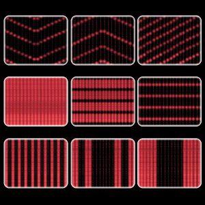 Световой занавес программируемый, красный, 2х6м
