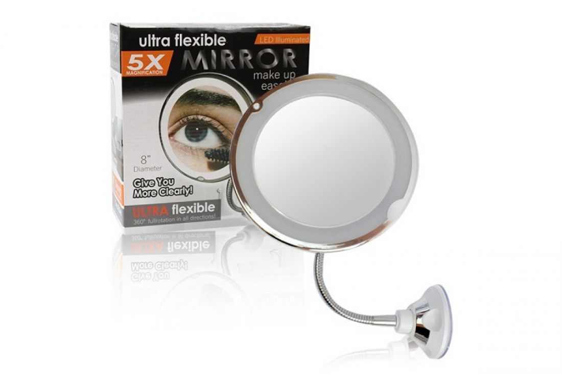 Зеркало с подсветкой для макияжа Ultra Flexible Mirrror 5X