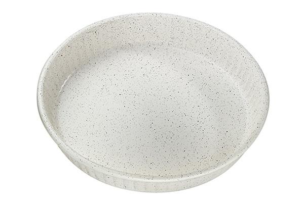 Круглая форма для запекания с антипригарным покрытием 1,72 литра Borcam 59044 жаропрочная стеклянная форма для СВЧ 26x4,5 см кремовая