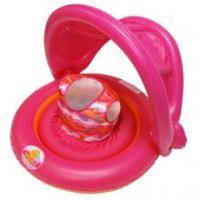 Универсальный надувной круг с навесом 2-IN-1 BABY BOAT цвет розовый