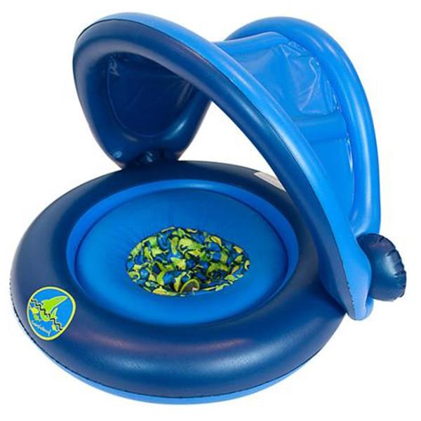 Универсальный надувной круг с навесом 2-IN-1 BABY BOAT цвет синий