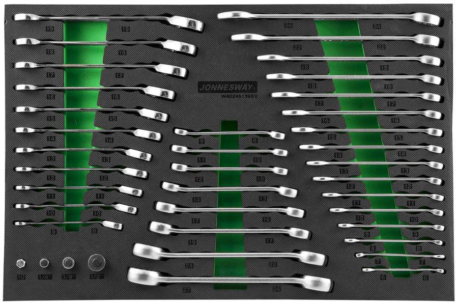 W106246139SV (W60246139SV) Набор ключей гаечных и адаптеров в EVA ложементе 560х400 мм, 39 предметов