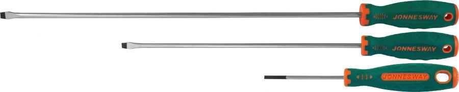 D71S8150 Отвертка стержневая шлицевая ANTI-SLIP GRIP, SL8.0х150 мм
