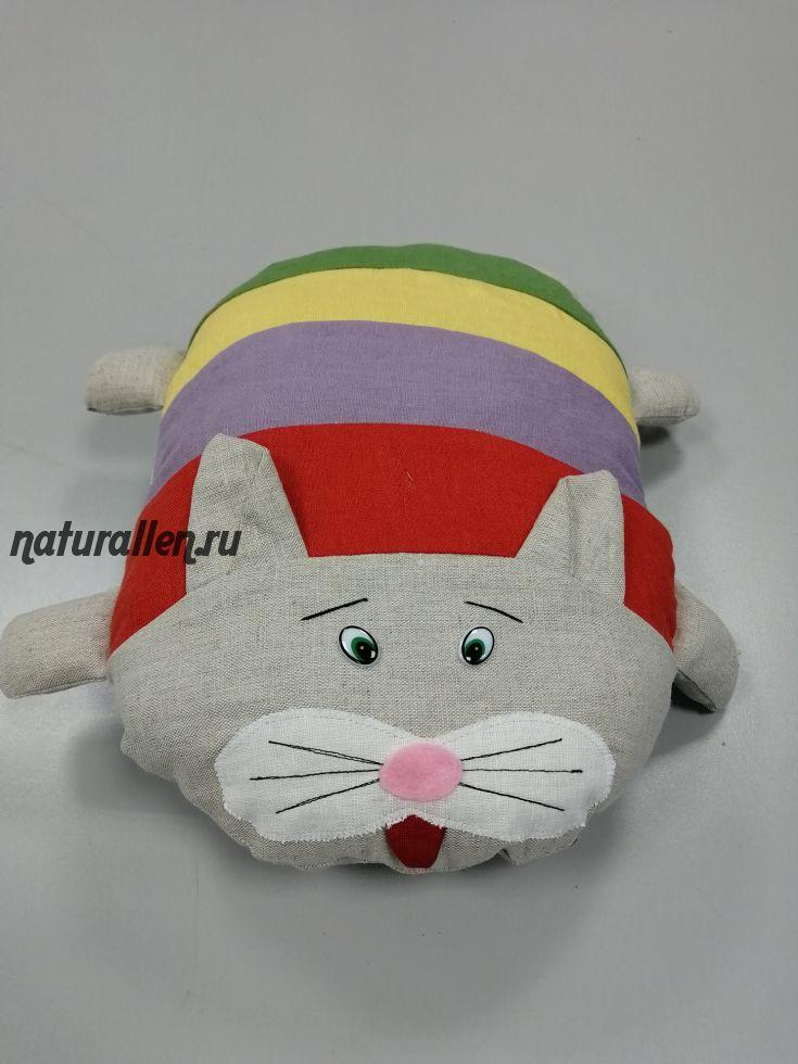 Игрушка кот Тильда из льна