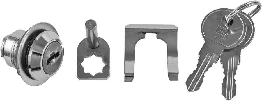 OTT47-001CR Замок с двумя ключами для тележки OMBRA