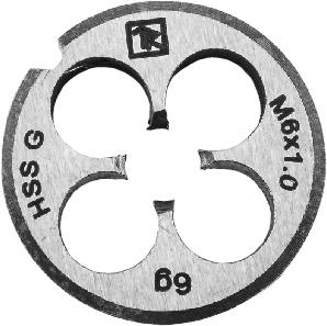 MD71 Плашка D-COMBO круглая ручная М7х1.0, HSS, Ф25х9 мм