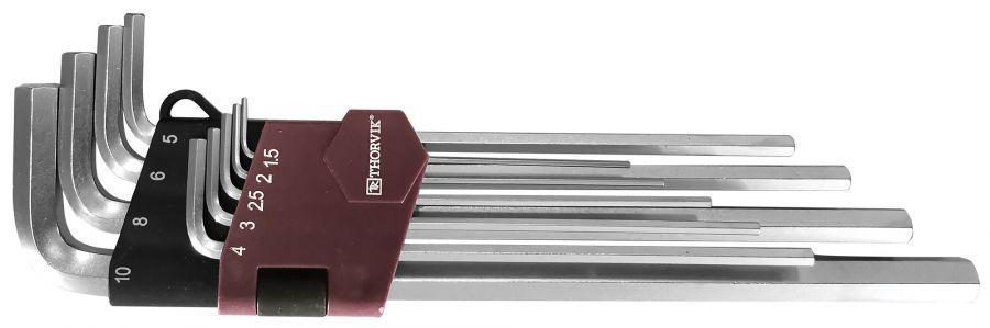 HKL9S Набор ключей торцевых шестигранных удлиненных, H1.5-H10, 9 предметов