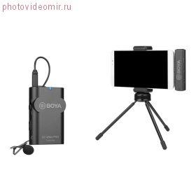 BY-WM4 Pro-К5 Двухканальный беспроводной микрофон нового поколения для устройств с разъемом USB Type-C