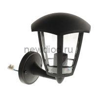Светильник Luazon 03-1, садово-парковый, шестигранник, E27, настенный, вверх, черный