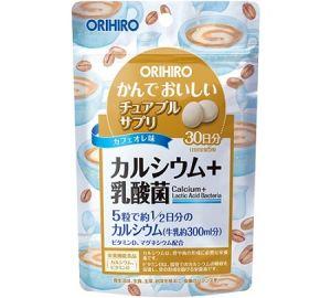 ORIHIRO Кальций, магний и лактобактерии на 30 дней (вкус кофе с молоком)