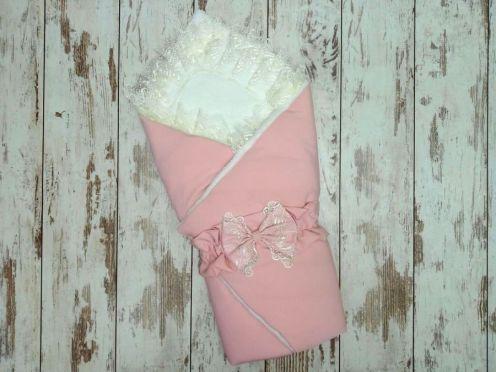 Комплект на выписку 5 предметов, барби с мехом, цвет розовый 02173-7