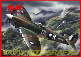Спитфайр Mk. VIII, британский истребитель ІІ Миров, самолет