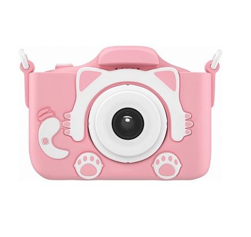 Детский цифровой фотоаппарат Children's Fun Camera Cute Kitty, Цвет Розовый