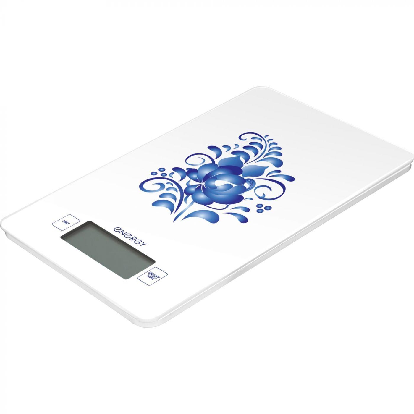 Весы кухонные электронные ENERGY EN-423 гжель
