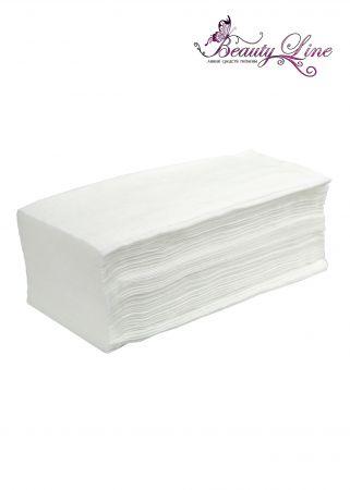 Салфетки одноразовые белые  Размер -  20/30, Плотность - 40; --- 100 штук