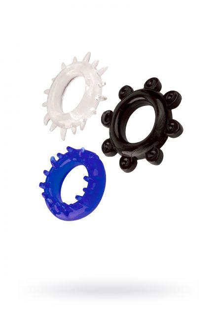 Набор колец TOYFA A-toys, TPE, Ø 3 см