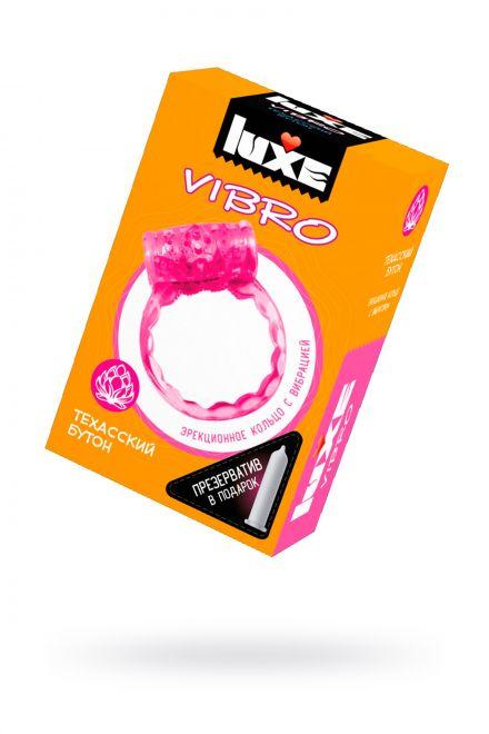 Виброкольцо LUXE VIBRO Техасский Бутон + презерватив, 1 шт