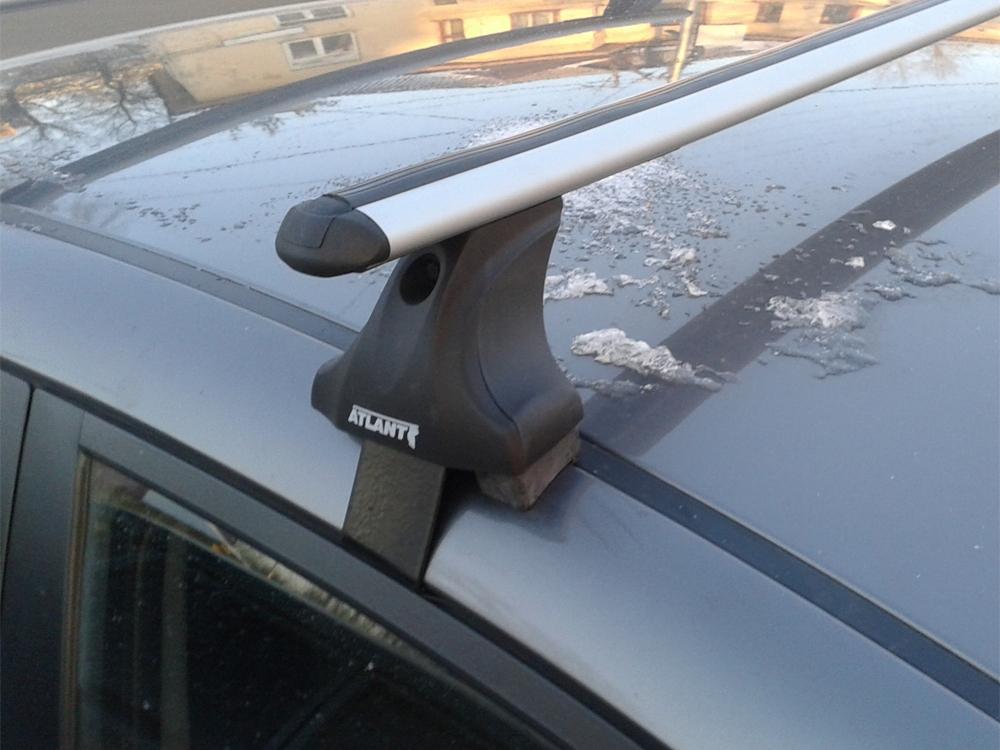 Багажник на крышу Toyota Camry XV40 2006-2011, Атлант, аэродинамические дуги, опора Е