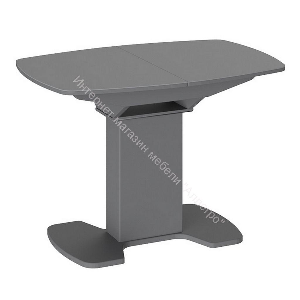 Обеденный стол Портофино 1100x750x750мм Серый/Стекло серое матовое LUX