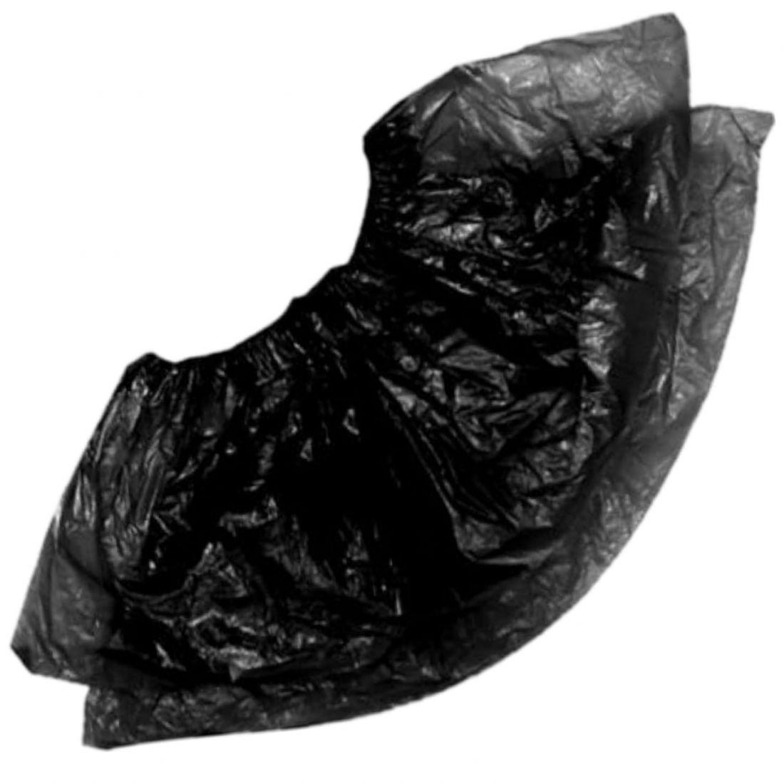 Бахилы п/э черные (усилен) 50 пар